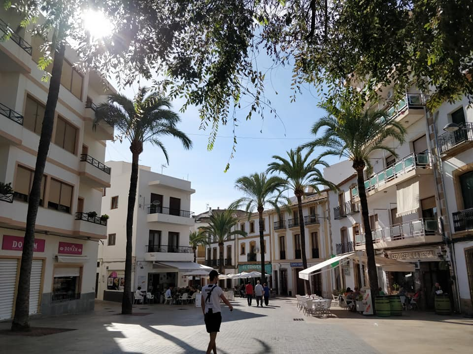 The old city in Jávea, Spain