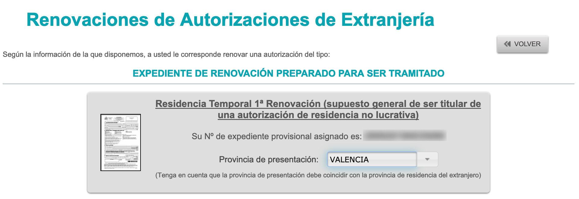 Non-Lucrative Visa Information During Renewal